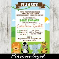 theme invitations jungle theme baby shower invitation personalized cupcakemakeover