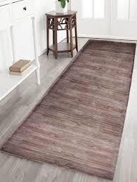 Brown Bathroom Rugs Wood Grain Skid Resistant Flannel Bath Rug Deep Brown Inch In