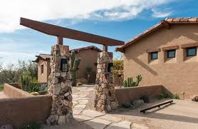 Entryway Sconces Desert Landscape Ideas Southwestern With Open Entryway Bronze Path