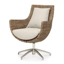 Restoration Hardware Swivel Chair Designer Love Leather Swivel