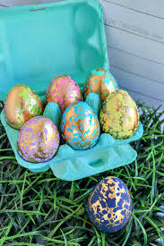 blown easter eggs gold foil easter eggs crafty morning