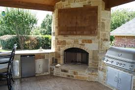 Outdoor Patio Fireplaces Hideaway Tv Cabinet Patio Traditional With Dfw Fireplace Grills