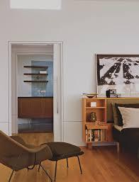 Traditional door handles bedroom midcentury with wall art wall