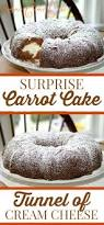 surprise carrot bundt cake with cream cheese filling