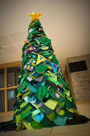 stoke gifford journal yarn bombed christmas tree to double as