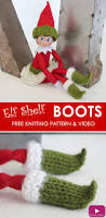 elf on the shelf thanksgiving how to knit elf shelf doll boots studio knit