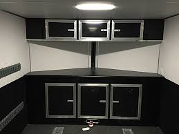 v nose enclosed trailer cabinets specialty trailers lightning cargo trailers
