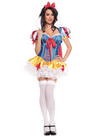 swimsuit halloween costumes lacy sassy snow white costume