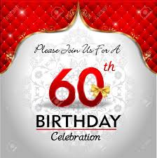60 years birthday 60 years birthday celebration golden royal background