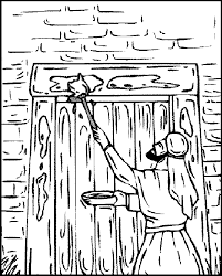 passover coloring page 2 passover blood on the door post coloring pages