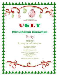 ugly sweater christmas party invitations u2013 gangcraft net
