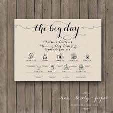 wedding itinerary wedding day itinerary for your bridal party or