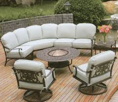 Round Table Patio Dining Sets - furniture charming cool martha stewart patio furniture with