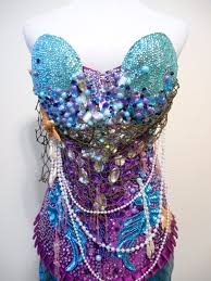 mermaid rave bra corset the little mermaid halloween