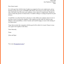 Letter Of Resignation 2 Weeks Notice Great 2 Week Notice Letter U2013 Letter Format Writing