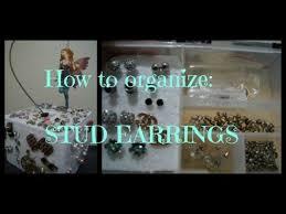 organize stud earrings how to organize stud earrings