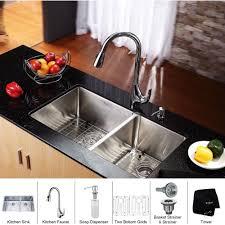 kraus khu103 33 kpf1621 ksd30ch kitchen combo polished chrome