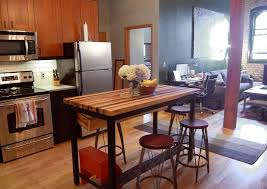 buy a hand crafted butcher block kitchen island with industrial custom made butcher block kitchen island with industrial base and wine rack