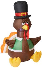 thanksgiving inflatables outdoor amazon com gemmy inflateables holiday g08 26396 air blown outdoor