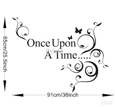 once upon time vinyl wall lettering stickers quotes and sayings the size for our wall sicker refers images shown effect chart reference only please carefully refer