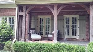 solid wood porch columns