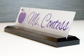 custom glass desk name plates best home furniture decoration