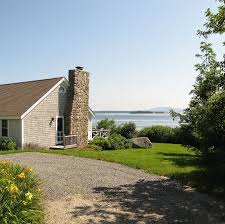 maine oceanfront vacation rental brooklin maine sea meadow cottage