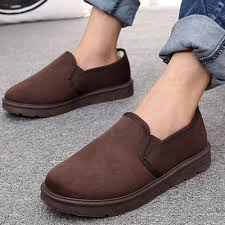 mens winter casual fur lined boots anti slip driving boat shoes
