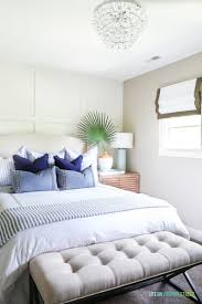 Coastal Themed Bedding Summer Home Tour Wood Nightstand Coastal Bedrooms And White Throws