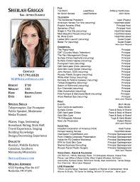 Actor Resume With No Experience Actress Sample Resumes Talent Acquisition Manager Resume Example