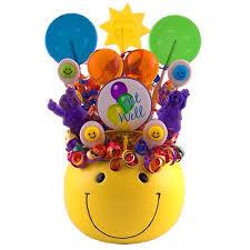 lollipop bouquet get well smiles lollipop bouquet candy gift baskets
