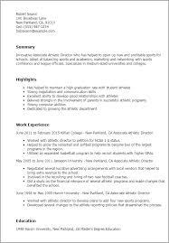 resume template sle 2017 ncaa athletic resume template associate athletic director jobsxs com