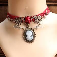 choker collar necklace vintage images Gothic lace jewelry vintage rose vine necklaces pendants choker jpg
