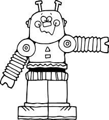 cute big robot coloring page wecoloringpage