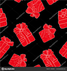 bows for gifts seamless pattern with outline gifts with bows in