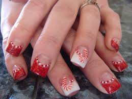 christmas acrylic nail designs trend manicure ideas 2017 in pictures