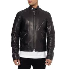 armored leather motorcycle jacket fashionable biker jacket