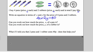 simultaneous equations 1 gcse higher maths tutorial 11 youtube