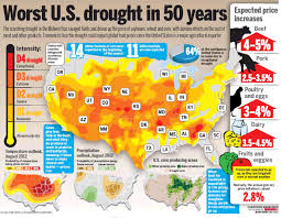 United States Drought Map by The Impact Of The Us Drought Business Infographics