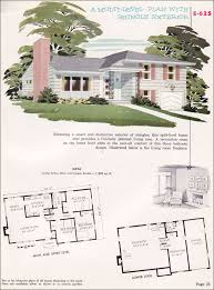 multi level house plans e 625 1955 national plan service homes of individuality