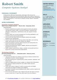 Systems Analyst Resume Example by Computer Systems Analyst Resume Samples Qwikresume
