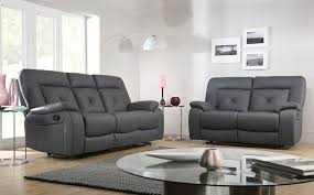 3 Seater Leather Recliner Sofa Hanover Grey Leather Recliner Sofa Grey Interior Inspiration