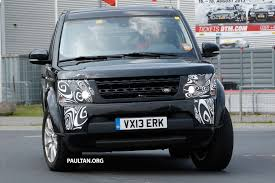 kereta range rover spyshots land rover discovery 4 facelift on test