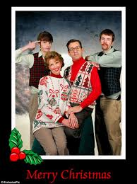 cringe worthy family christmas photos daily mail online