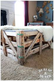 shipping crate coffee table reclaimed shipping crate and sherpa diy coffee tableburlap denim