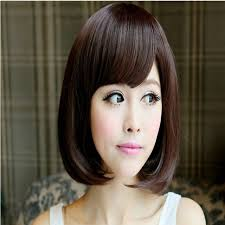 wigs short hairstyles round face 3 01tophere wig female round face short hair pear head length