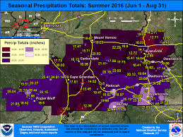 Evansville In Zip Code Map by Summer 2016 Climate Summary