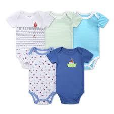 newborn jumpsuit nest newborn 100 cotton 5 pieces lot baby print bodysuit