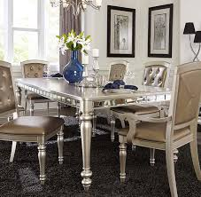 Silver Dining Table And Chairs Homelegance Orsina Dining Table Silver 5477n 96