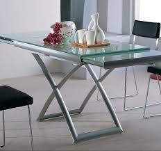 glass furniture transforming extending glass table expand furniture